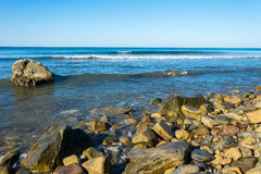 Rocky seashore. Stock Photo