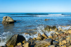 Rocky seashore. Stock Photos