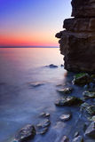 Rocky Seashore at Sunset Royalty Free Stock Images