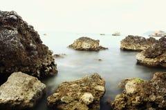 Rocky seashore Royalty Free Stock Photo