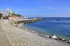 Rocky seashore walk Royalty Free Stock Photo
