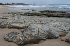 Rocky Seaside. Moffat Beach, Sunshine Coast, Queensland, Australia Stock Image