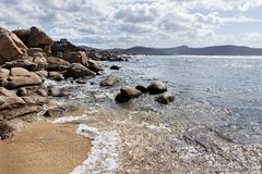 Rocky seaside in corsica Royalty Free Stock Image