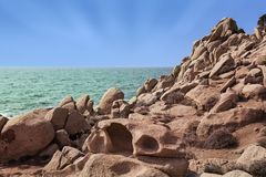 Rocky seaside in corsica Royalty Free Stock Photography