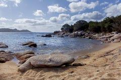 Rocky seaside in corsica Stock Photo