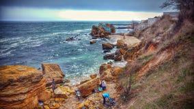 Rocky Seaside de Odessa Ukraine imagens de stock