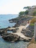 Rocky seaside resort Royalty Free Stock Photography