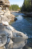 Rocky sheep river valley Royalty Free Stock Images