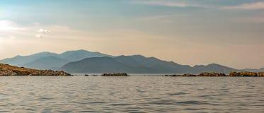 Rocky shore on the Aegean Sea Royalty Free Stock Photo
