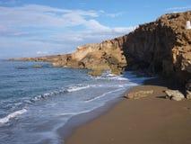 Rocky shore on akamas peninsula in cyprus Stock Image