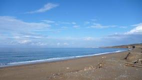 Rocky shore on akamas peninsula in cyprus Royalty Free Stock Photo