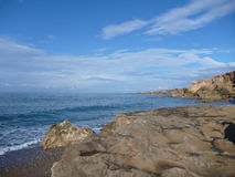 Rocky shore on akamas peninsula in cyprus Royalty Free Stock Images