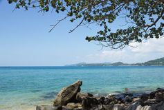 Rocky shore of the Andaman sea, Thailand Royalty Free Stock Photography