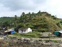 Rocky shore Arambol. In North Goa, India Stock Images
