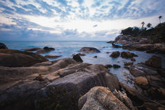The rocky shore or beach Stock Image