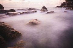 The rocky shore or beach Royalty Free Stock Images