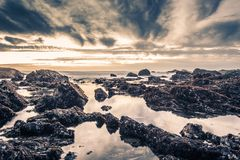 Rocky Shore Beach Stock Images