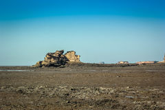 Rocky Shore. Of Bhavnagar city of Gujarat India is unique example of biodiversity Royalty Free Stock Photography