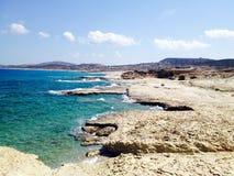 Rocky shore. A rocky shore with blue ocean Royalty Free Stock Photos