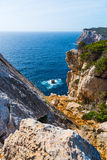 Rocky shore in Capo Caccia Royalty Free Stock Images