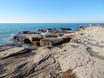 Rocky shore of Caspian Sea Stock Photo