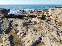Rocky shore of Caspian Sea Stock Photography