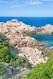 Rocky shore in Costa Paradiso Royalty Free Stock Photography