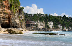 Rocky shore. Dreamland beach. Bali island Stock Photos