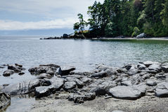 Rocky shore at East Sooke Regional Park, near Victoria, BC Stock Image