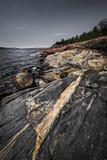 Rocky shore of Georgian Bay Stock Photo