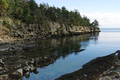 Rocky shore in gulf islands national park royalty free stock image