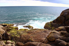 Rocky shore, the heart of Unawatuna Stock Images