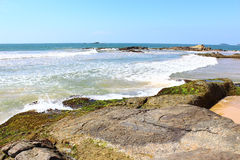 Rocky shore of the Indian Ocean, Bentota Stock Photography