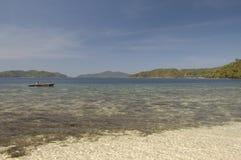 Rocky shore of island. Philippines Royalty Free Stock Photo