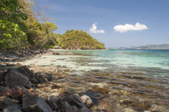 Rocky shore of island. Philippines Royalty Free Stock Photography