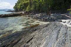 Rocky shore of island. Philippines Royalty Free Stock Image