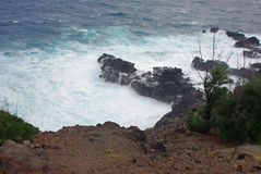 A Rocky Shore - Kauai, Hawaiian Islands Royalty Free Stock Image