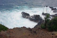 A Rocky Shore - Kauai, Hawaiian Islands Royalty Free Stock Image