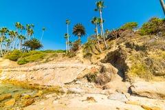 Rocky shore in Laguna Beach Stock Photo