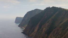 Rocky shore of Lake Baikal. Time lapse stock footage
