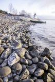 Rocky shore of the lake Stock Photo