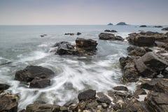 Rocky shore landscape Royalty Free Stock Photography