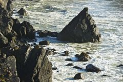 Rocky Shore Line Imagen de archivo
