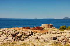 Rocky shore on Lokrum island Royalty Free Stock Photography