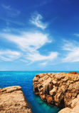 Rocky shore on Lokrum island Royalty Free Stock Photos
