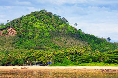 Rocky Shore Low Tide. Rocky beach at low tide, Andaman Shore, Thailand Royalty Free Stock Photos