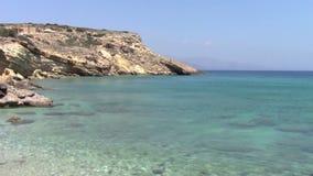 Rocky shore. In mediterranean sea stock video