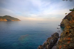 Rocky shore of the Mediterranean sea Royalty Free Stock Photography