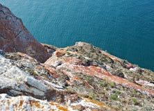 Rocky shore  near Cape Khoboy Stock Image