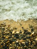 Rocky Shore Of Lake Michigan Stock Images